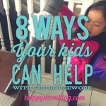8 Ways Your Kids Can Help With The Housework
