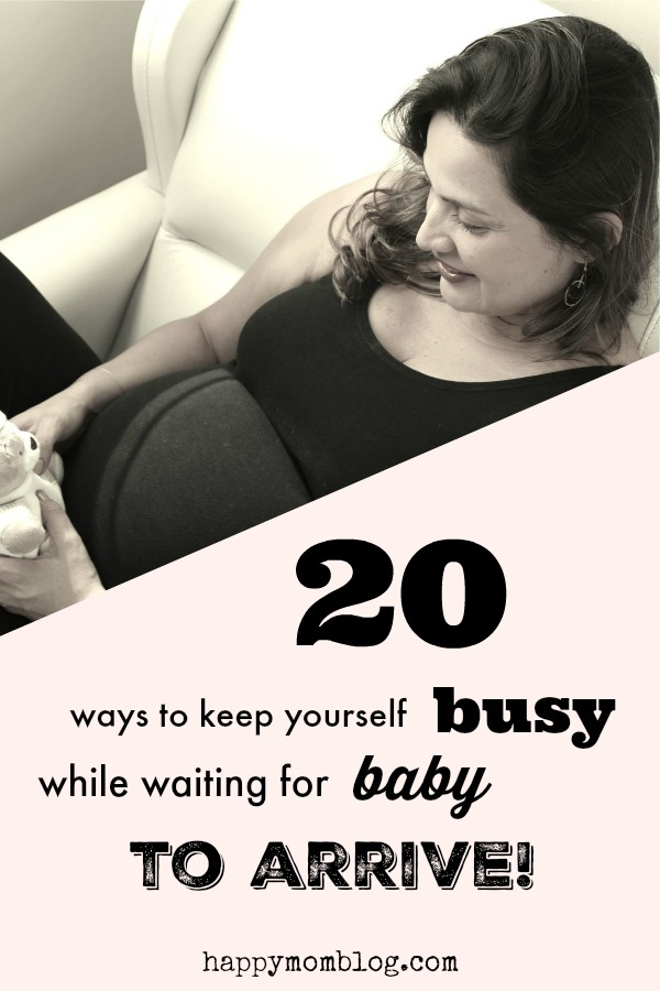 When you're full term, time seems to go by so slowly! Check out 20 things you can do to keep yourself busy while waiting for baby to arrive!