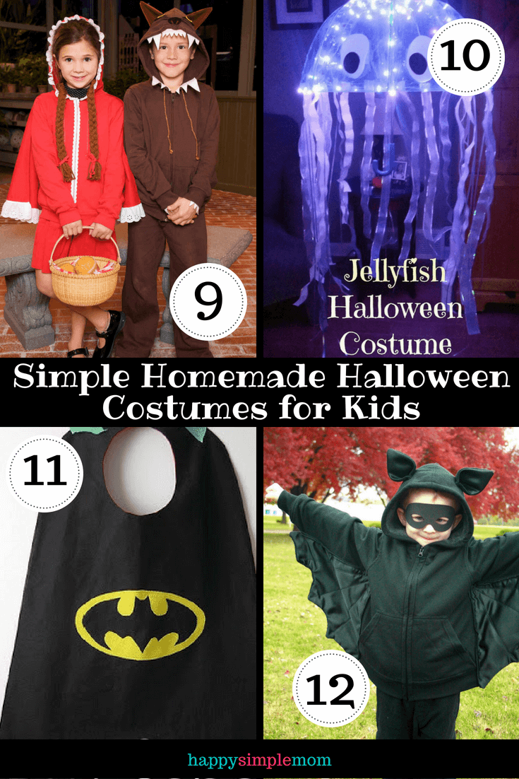 Simple homemade Halloween costume ideas for kids currated photos