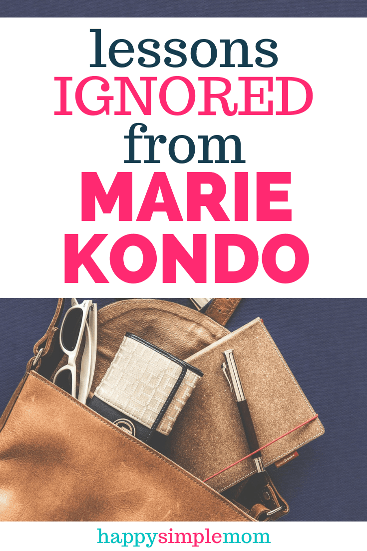 Lessons ignored from Marie Kondo Pinterest pin.
