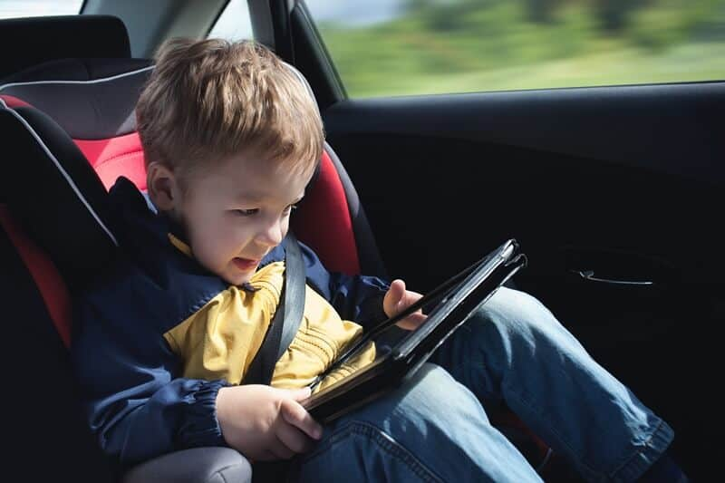 Try doing a car trip unplugged. Use these car trip activities for kids ideas.