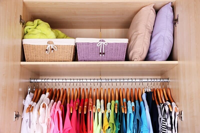 Use the KonMari Method Checklist to help declutter your closet.