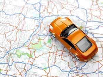 Teach your kids to read a map on a long car trip. Car trip activities for kids.