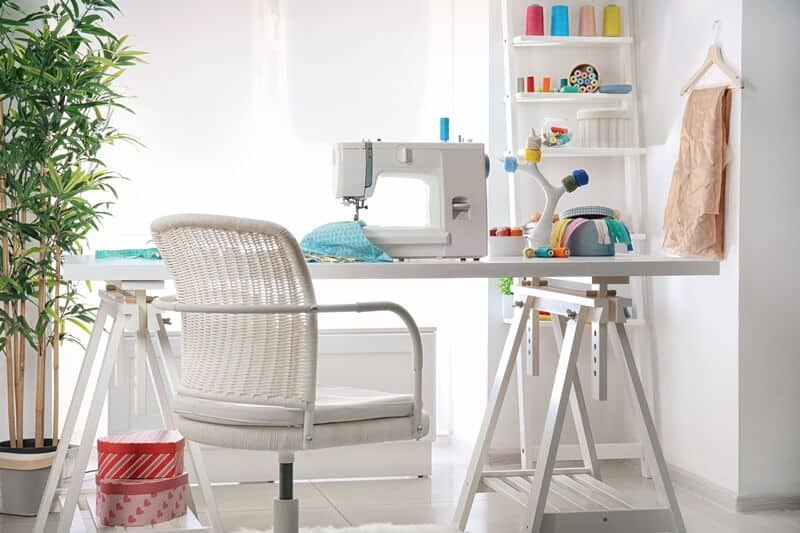 Sewing room. Enjoy some crafts while stuck at home.