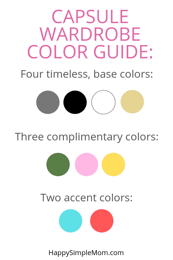 Use this capsule wardrobe color guide to create your favorite version of a capsule wardrobe for your lifestyle.