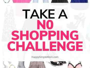 No shopping challenge with clothes in the backrground