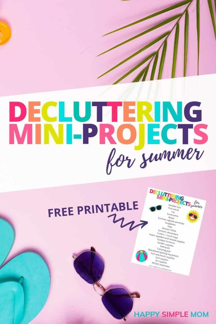 Summer background for summer decluttering miniprojects
