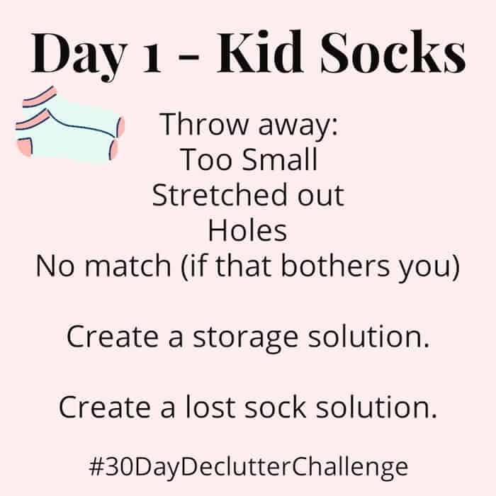 Declutter Kid Socks
