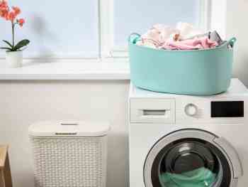 decluttered laundry room
