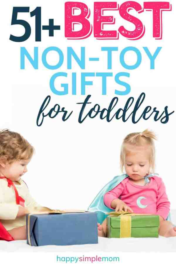 Toddlers opening gifts