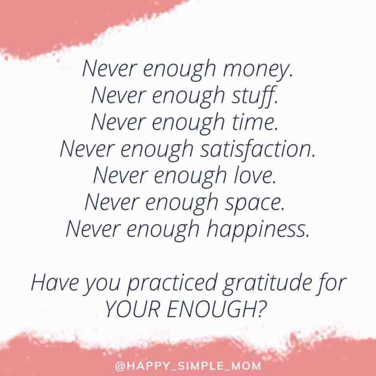 Gratitude jar never enough quote