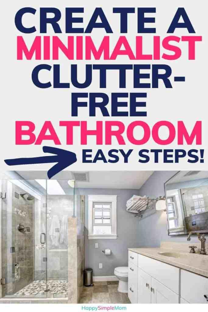clean, minimalist bathroom