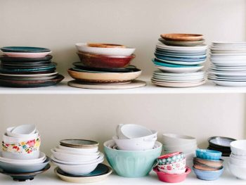 Decluttering challenge to get rid of excess dishes, mugs, toys, etc.