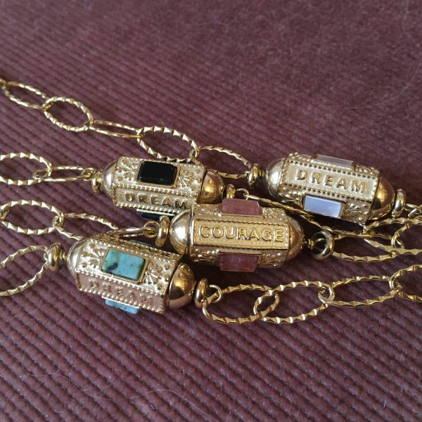 bracelet locket acier inoxydable amour chance courage gri gri cryptex marie lichtenberg
