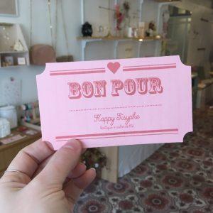 Bon cadeau happy sisyphe lyon boutique salon de thé créateurs fantaisie vintage suprise