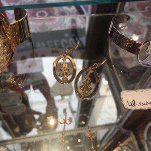 Boucle d'oreilles Tarot Pendu L'inaccessible Etoile Or Happy Sisyphe Boutique Lyon