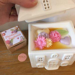 Fondants parfumés botanique bouquets rose vert violet jaune huiles essentielles Happy Sisyphe Boutique Lyon