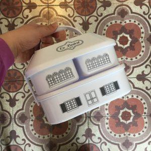 Lunch Box Bistrot 3 boites blanches illustrées Happy Sisyphe Boutique Lyon