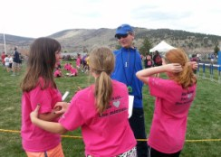 Coach Dan enjoys working with some of the Westview track team