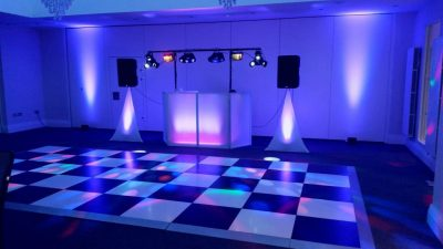 Mr and Mrs Jones - Dance floor and Purple lighting - Tern Hill Hall Market Drayton. - Happy Sounds Mobile Disco