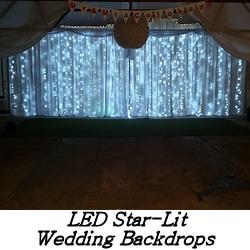 LED Star-lit Wedding Backdrop - Happy Sounds Mobile Disco