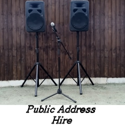 Public Address Hire - Speakers and Microphone - Happy Sounds Mobile Disco