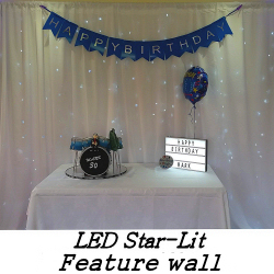 LED-Lit Feature Wall Weddings and Birthday Celebrations - Happy Sounds Mobile Disco