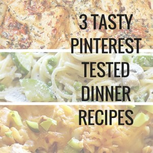 Take the guesswork out of Pinterest recipes with these 3 tested favourites. One pot zucchini mushroom pasta, chicken mozzarella pasta with sun dried tomatoes, and my personal favourite, cheeseburger casserole.