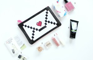 Learn more about February Ipsy Glam Bag. Review of Trust Fund Beauty nail polish, Perfectly Posh BFF face wash, Naked Cosmetics mica pigment, Smashbox Cosmetics primer oil, and Vintage lipgloss.