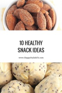 Pin now, save for later. 10 Healthy snack recipes: energy balls, strawberry snacks, and a dash of cinnamon.