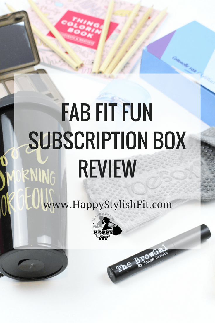 Take a peek inside this awesome quarterly box with this fall Fab Fit Fun subscription box review.