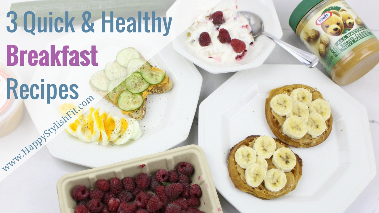 Kick your excuses to the curb and make a healthy breakfast in no time at all with these 3 quick and healthy breakfast ideas.