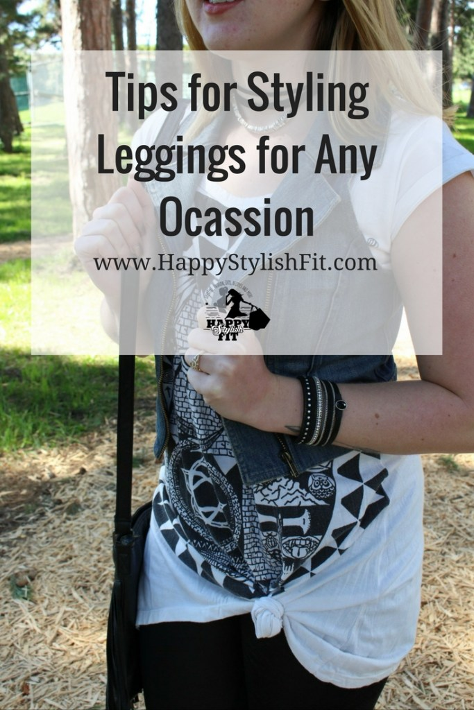 How to style leggings for any ocassion. Styling tips for a work leggings outfit, festival leggings outfit, casual leggings outfit, and night out leggings outfit. Stay comfy and chic.