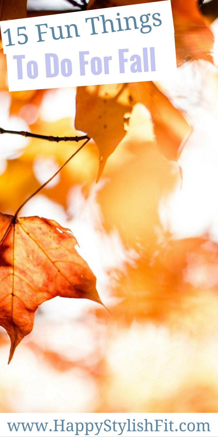 Get your fall bucket lists ready with this fun list of 15 fun things to do for fall!