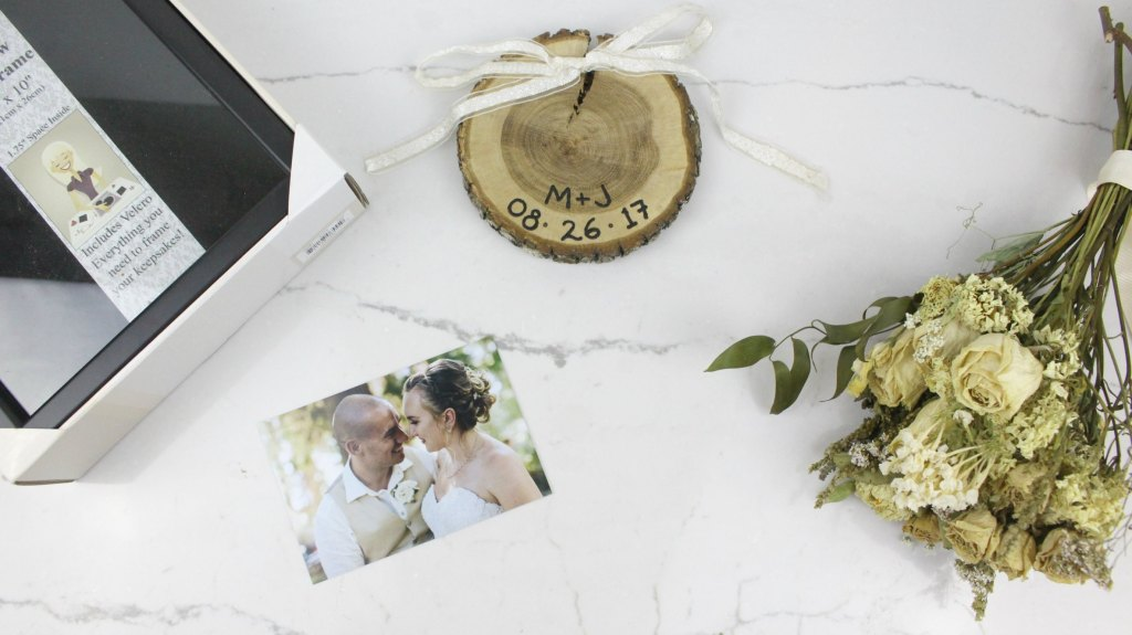 How to preserve your wedding bouquet and how to make this special DIY keepsake wedding shadow box.