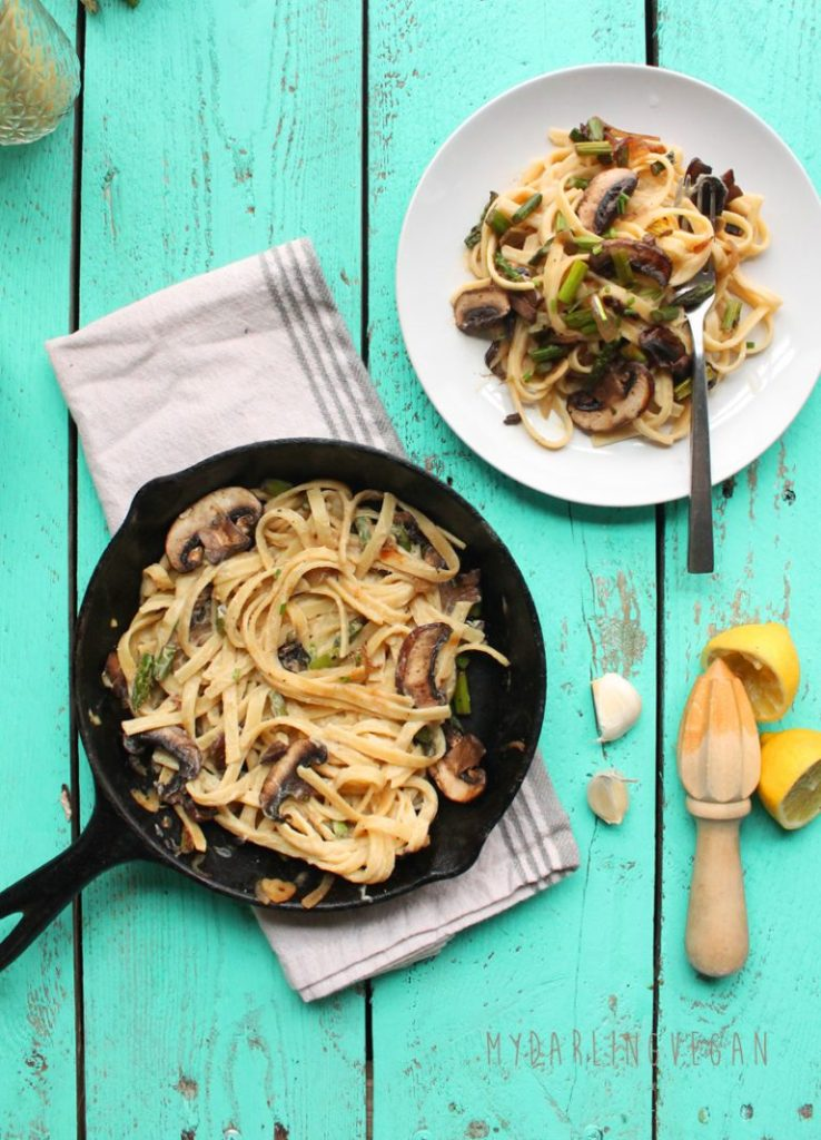 Vegan Fettuccine Alfredo - My Darling Vegan - 3 Vegan Dinner Recipes Tested and Approved - Happy Stylish Fit