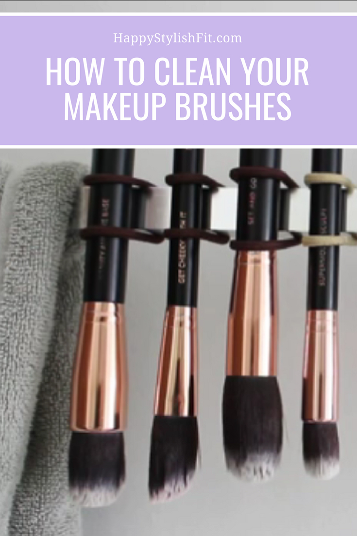 How to clean your makeup brushes at home using a diy makeup brush cleaner.