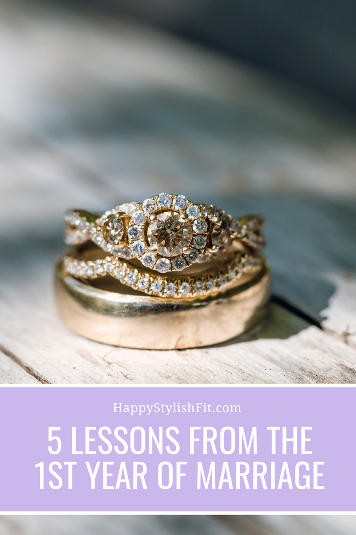 5 lessons from the first year of marriage.