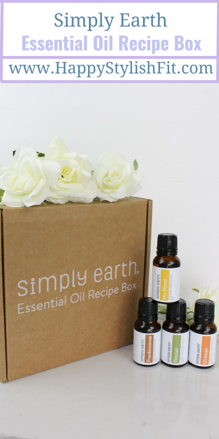 Simply Earth, the monthly subscription box that delivers 4 essential oils, 6 recipe cards, and all of the items you'll need to create your own DIY essential oil products.