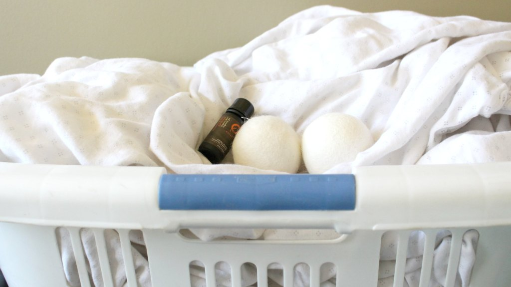 Chemical free laundry with wool dryer balls.