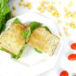 Vegetarian tuna sandwich recipe using a tasty chickpea veggie mash. It's the perfect sandwich for on the go healthy lunches.