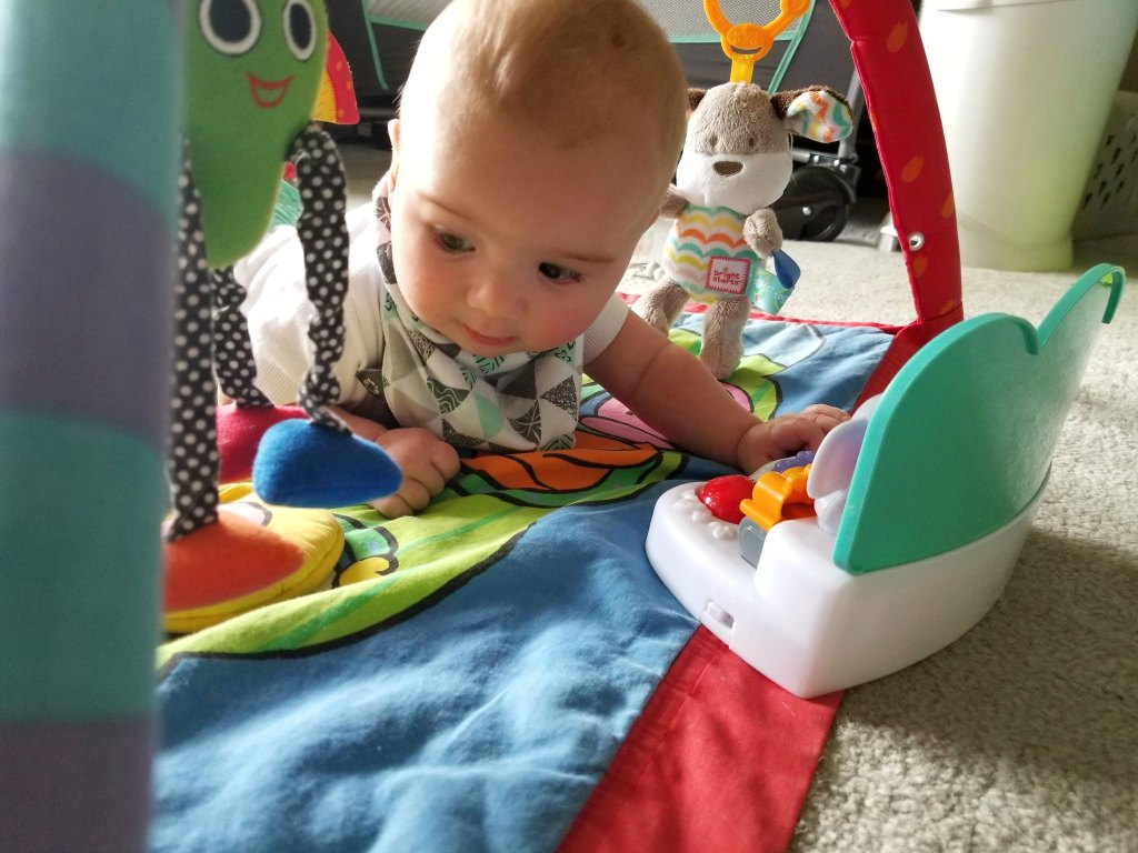 Lengthen tummy time with a fun and interactive toy.
