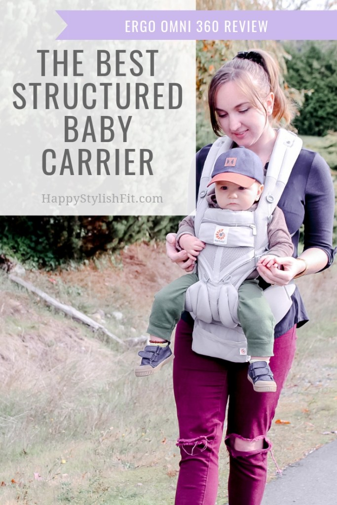 The best structured baby carrier is the ergo omni 360. Some of the awesome features include an ergonomic design, hip displasia friendly 4 position carry, machine washable, and a fanny pack! #BabyWearing #BabyCarrier #Ergo #StructuredCarrier