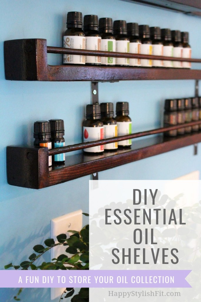Easy DIY essential oils. Do this fun DIY to store your ever growing essential oil collection. No tools required, although you can use them if you have them. #EssentialOils #DIY #homeDecor #NaturalHome #SimplyEarth