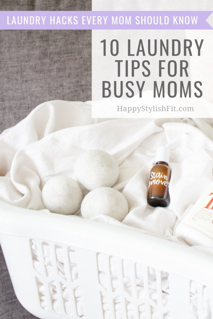 Laundry tips for busy moms. Save time and money with these laundry hacks.