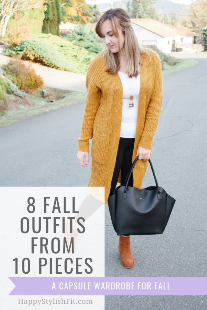 8 Fall Outfit ideas for great fall style. Check out this fall capsule wardrobe to get more wear out of the pieces in your closet. Mom style at it's best.
