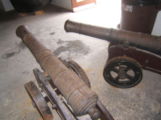 old rusty cannons