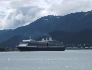 Holland America cruise ship in Alaska