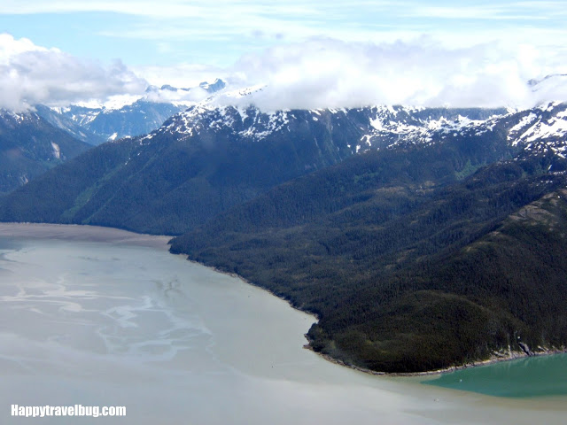 water view from a float plane in Alaska