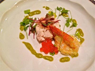 crab, shrimp and caviar appetizer